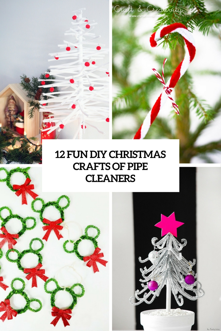 fun diy christmas crafts of pipe cleaners cover