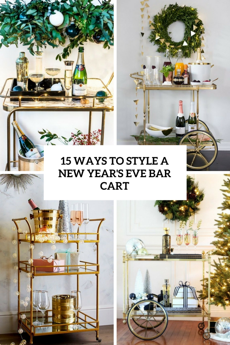ways to style a new year's eve bar cart cover