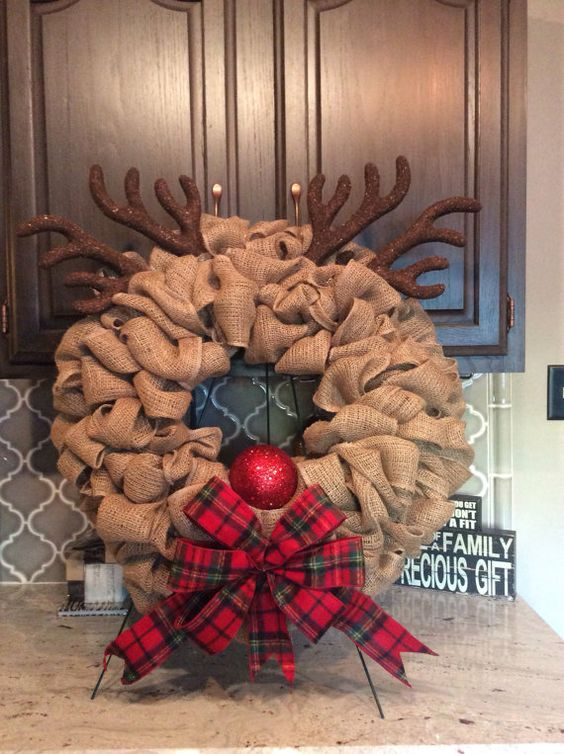 15 Rustic Burlap Christmas Decor Ideas Shelterness