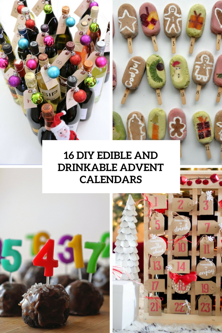 diy edible and drinkable advent calendars cover