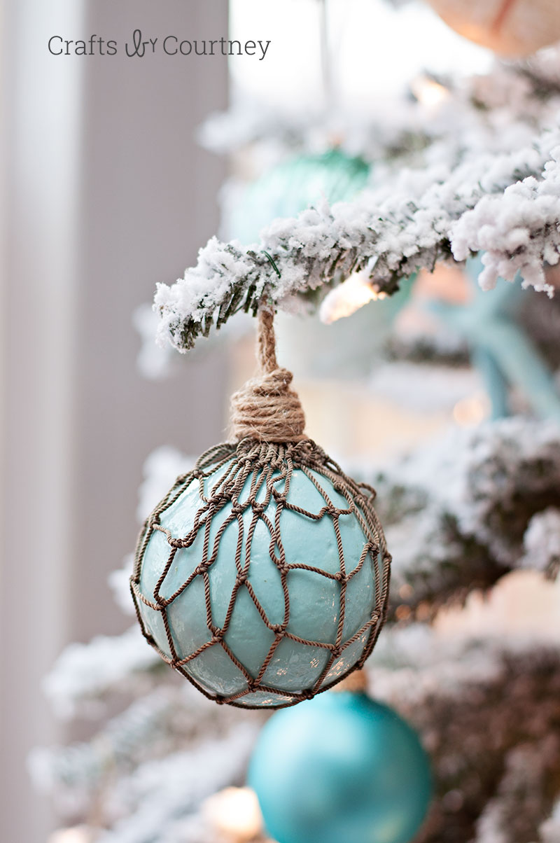 DIY faux float Christmas ornaments
