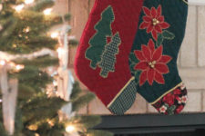 DIY stylish Christmas quilted stockings
