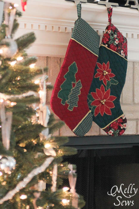 DIY stylish Christmas quilted stockings (via mellysews.com)