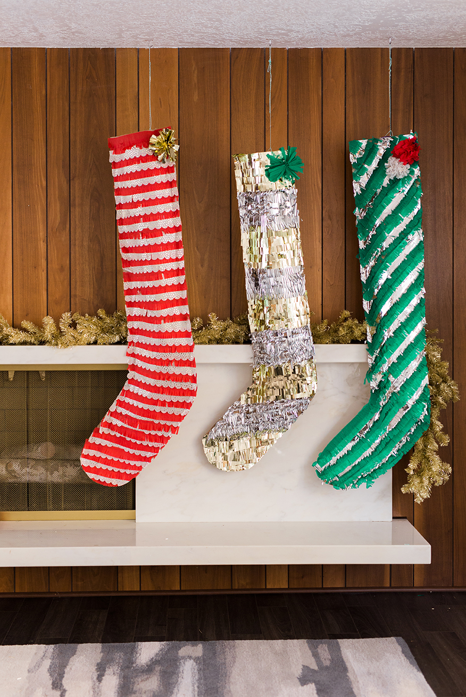 DIY oversized paper stockings