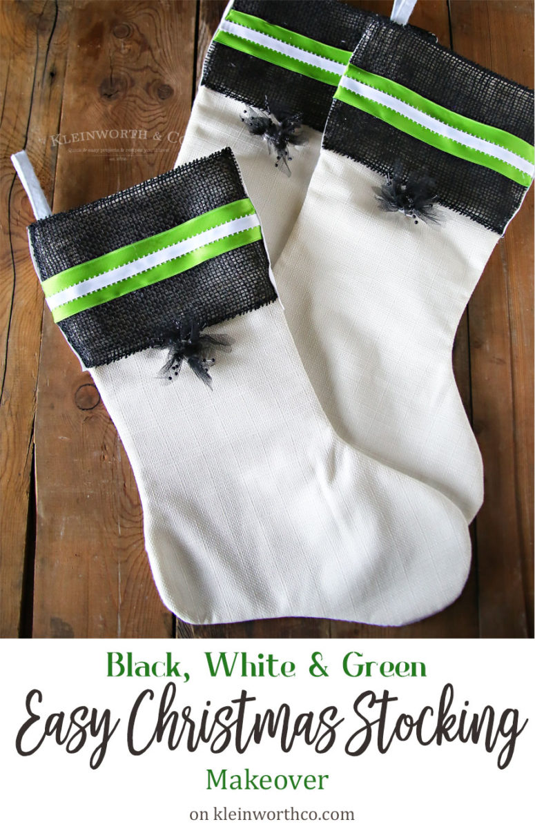 DIY decorated Christmas stockings (via www.kleinworthco.com)