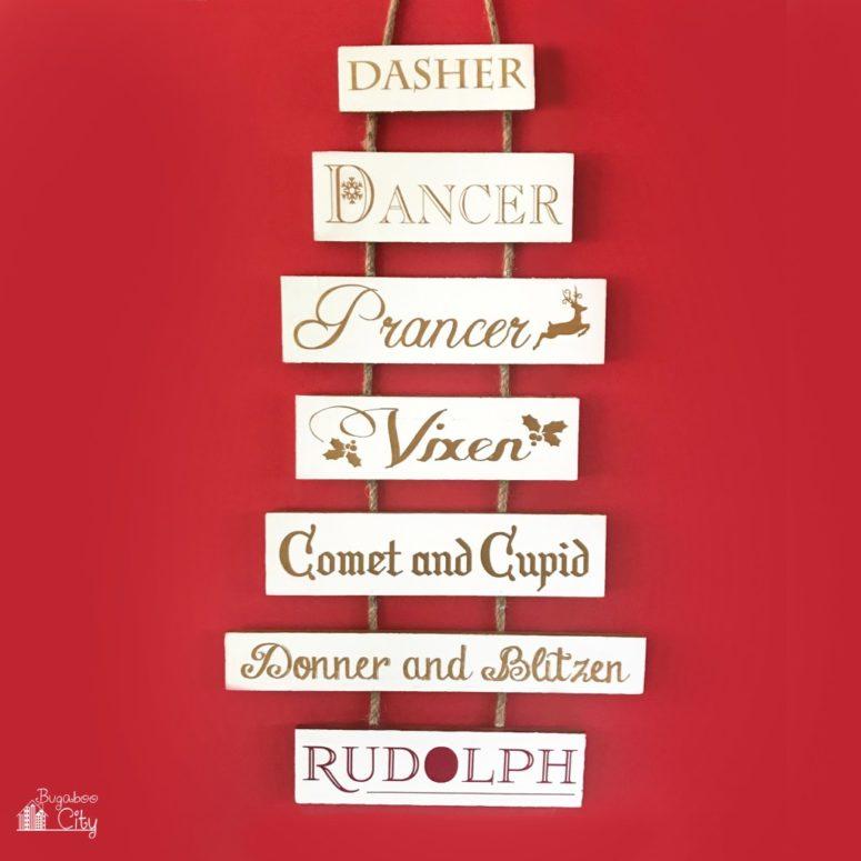 DIY reindeer sign for Christmas (via www.bugaboocity.com)