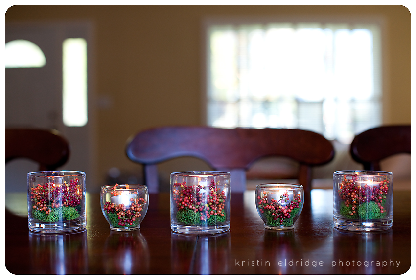 DIY votives styled for Christmas
