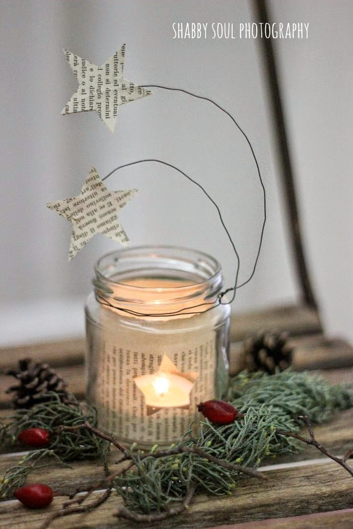 DIY Christmas star lantern of paper (via myshabbysoul.blogspot.ru)