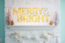 DIY large MERRY marquee sign
