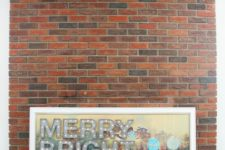 DIY Christmas marquee sign on a painting