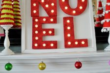 DIY styrofoam letters marquee sign