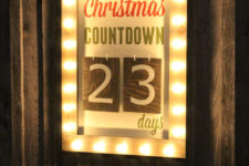 DIY countdown marquee sign