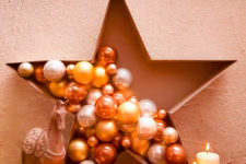 DIY bauble star decoration