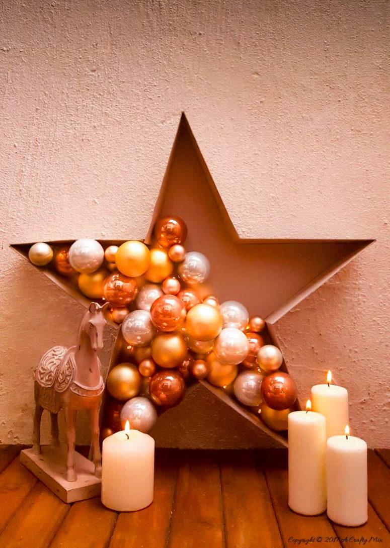 DIY bauble star decoration (via acraftymix.com)