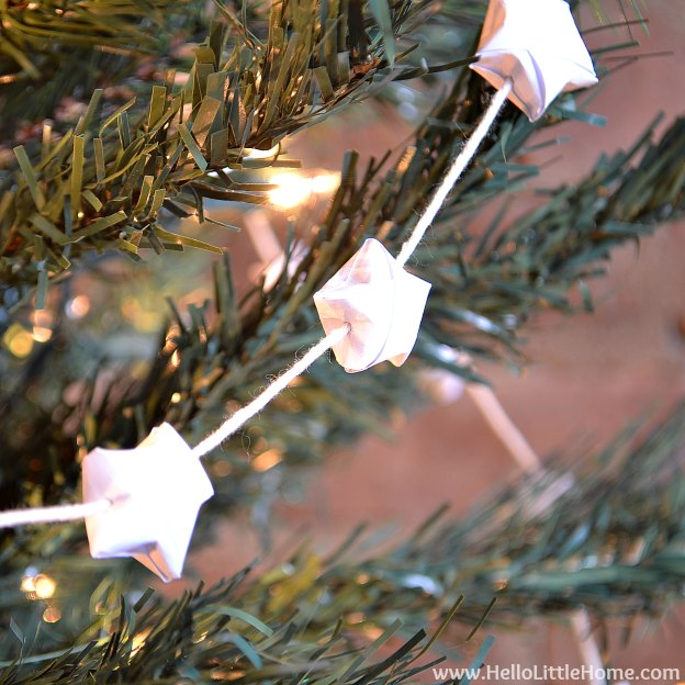 DIY origami star garland