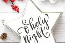 DIY silhouette Christmas star decoration