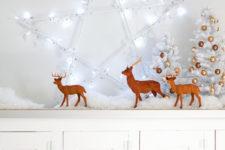 DIY LED star holiday wreath