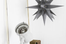 DIY grey Christmas star lamp