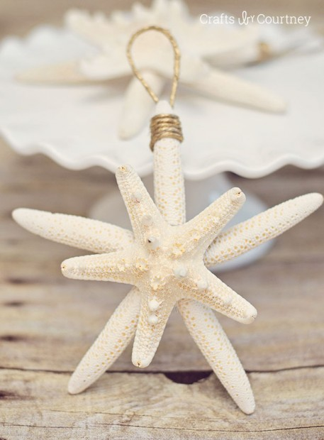 DIY starfish ornaments for Christmas