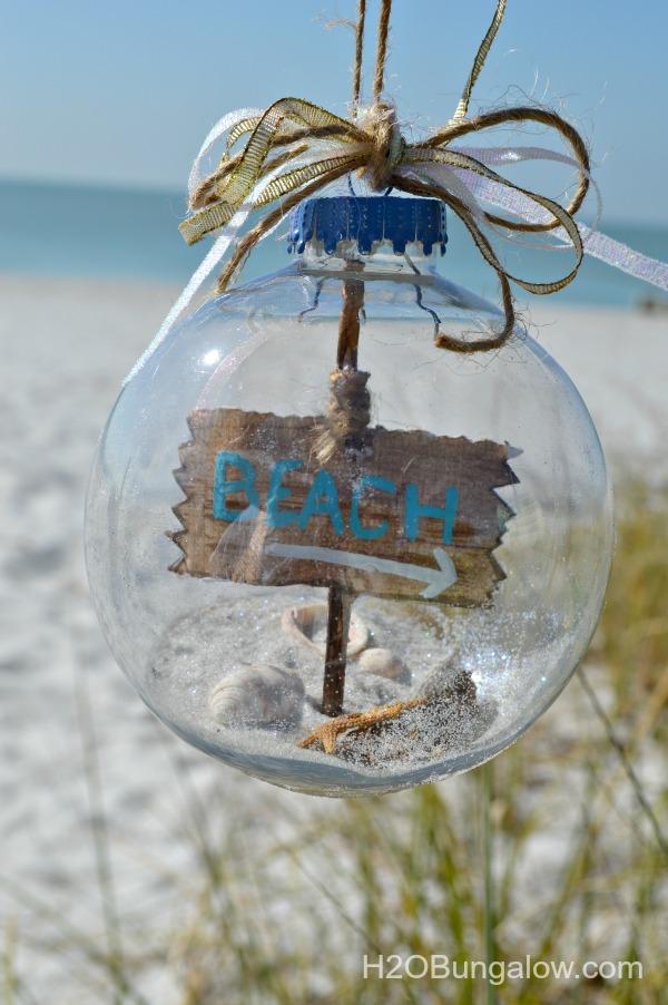 DIY beach glass ornaments with signs (via h2obungalow.com)