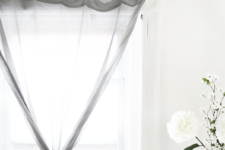 DIY curved tree branch curtain rod