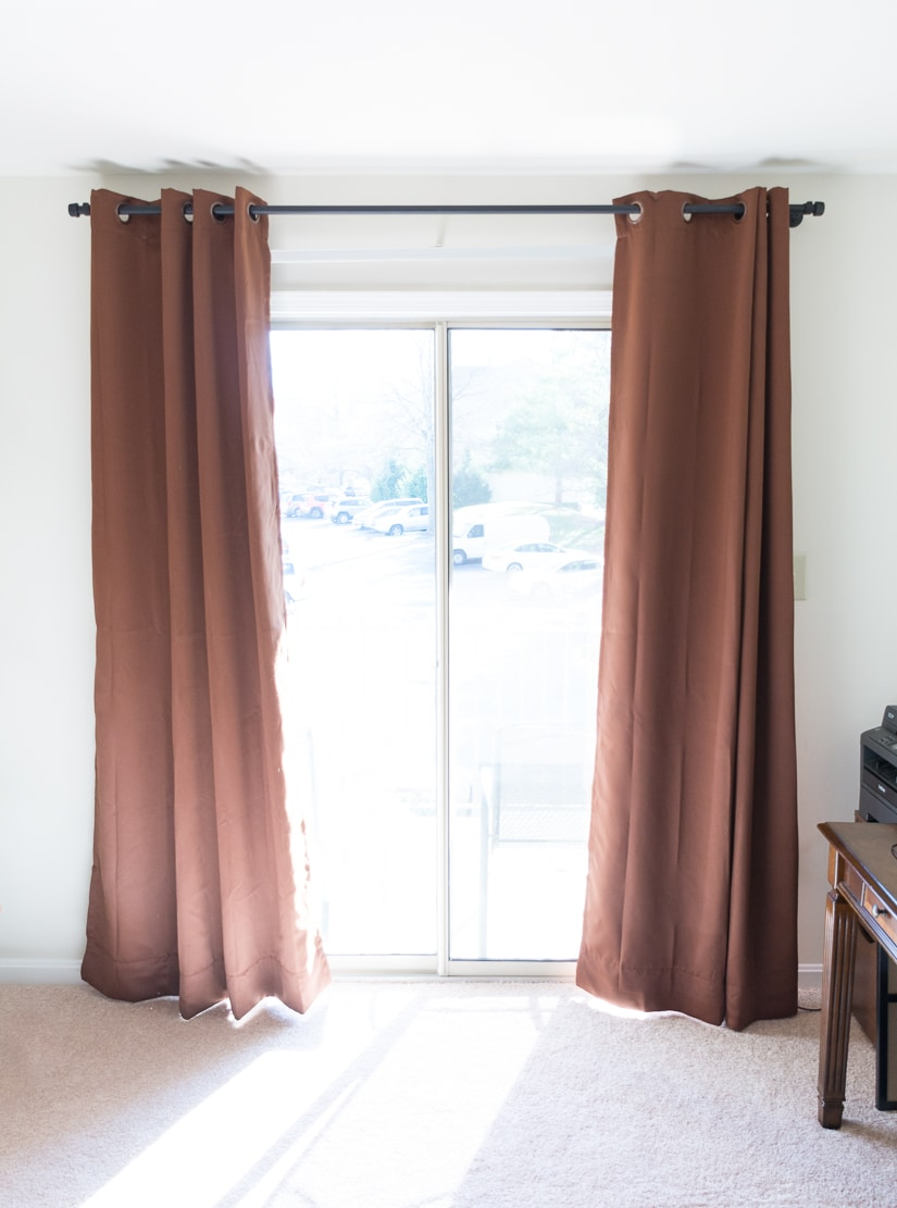 DIY conduit pipe curtain rod