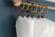 DIY curtain rods of ping pong balls