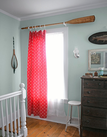DIY oar curtain rods (via www.countryliving.com)