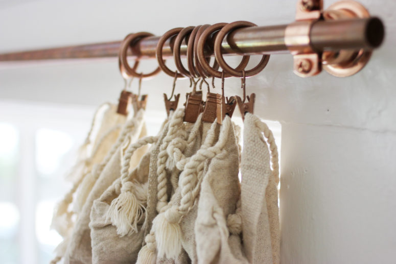 DIY affordable copper curtain rods (via www.apartmenttherapy.com)