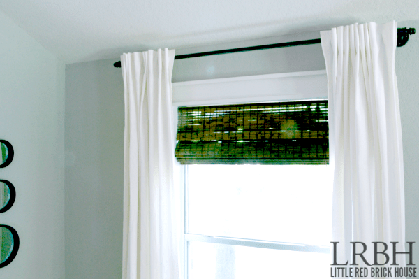 DIY galvanized pipe curtain rod (via www.littleredbrickhouse.com)