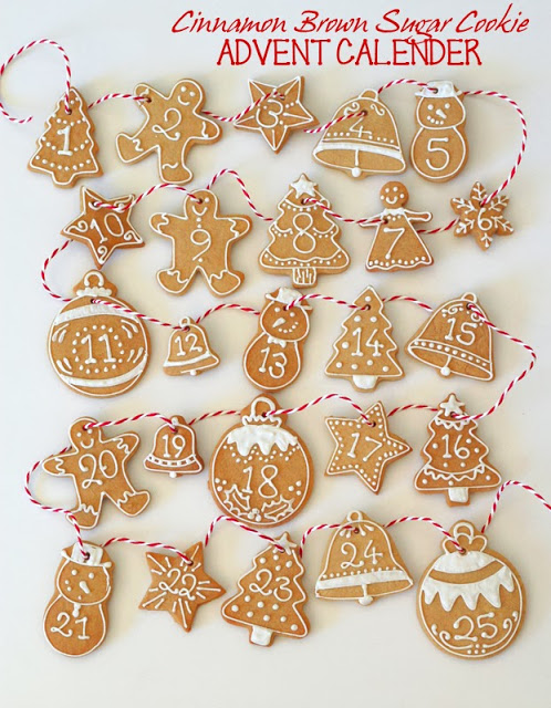 DIY cinnamon brown sugar cookies advent calendar (via butterheartssugar.blogspot.ru)