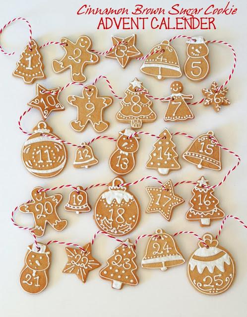 DIY cinnamon brown sugar cookies advent calendar (via butterheartssugar.blogspot.ru)