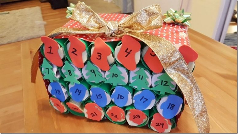 DIY alcohol advent calendar (via runeatrepeat.com)