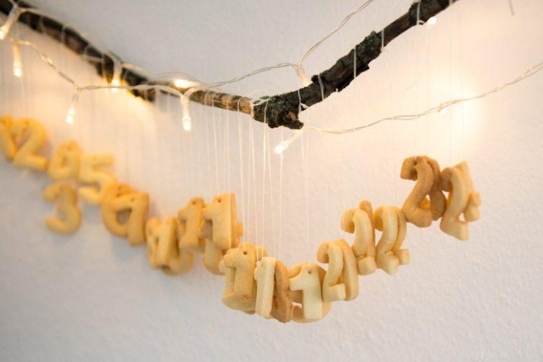 DIY butter number cookies calendar (via kittenhood.ro)