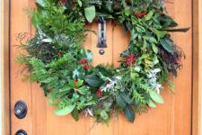DIY fresh evergreen Christmas wreath