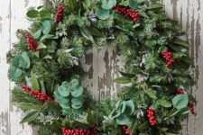 DIY evergreen wreath with a twist