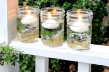 DIY evergreen candles