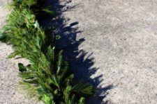 DIY evergreen garland