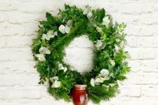 DIY holiday gift wreath