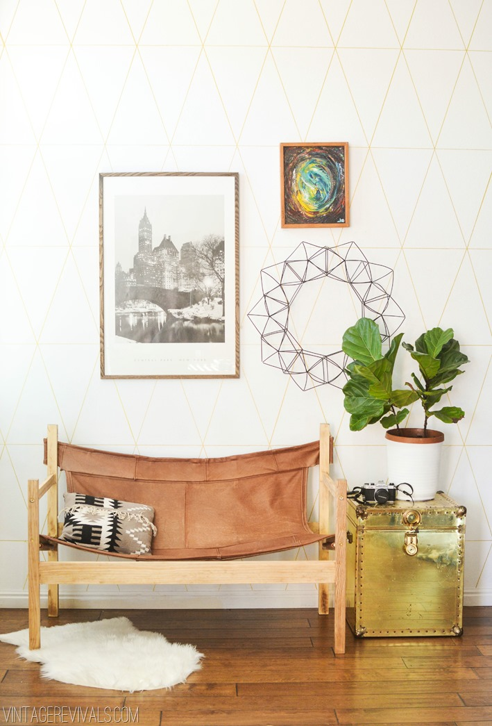 DIY leather safari sling bench (via vintagerevivals.com)