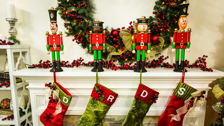DIY toy soldier stocking holders