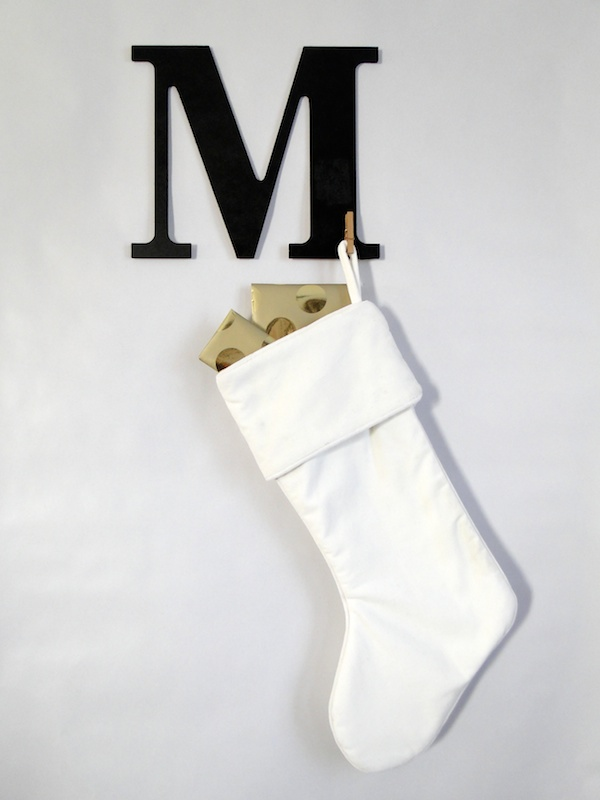 DIY monogram stocking hangers