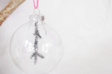 DIY clear glass ornaments with pipe cleaners
