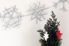 DIY silver snowflake garland