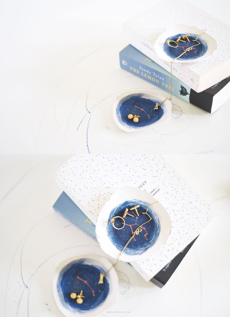 DIY constellation trinket dishes (via www.inkstruck.com)