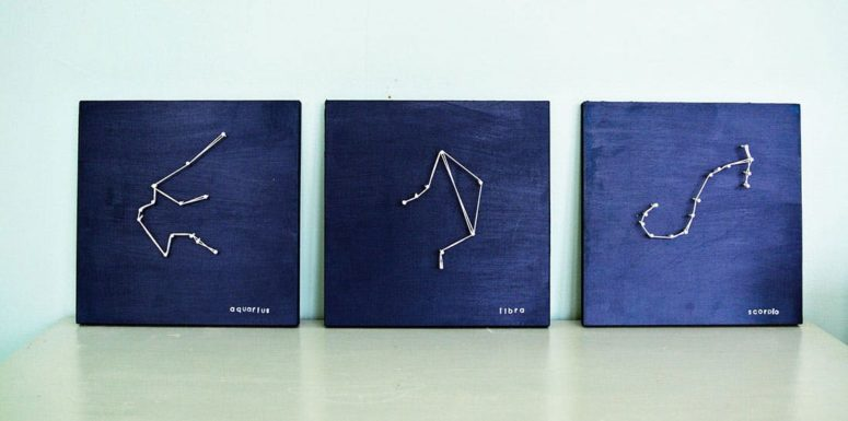 DIY string constellation art (via www.brit.co)