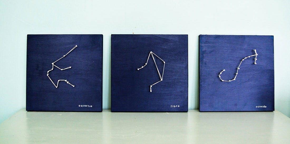 DIY string constellation art