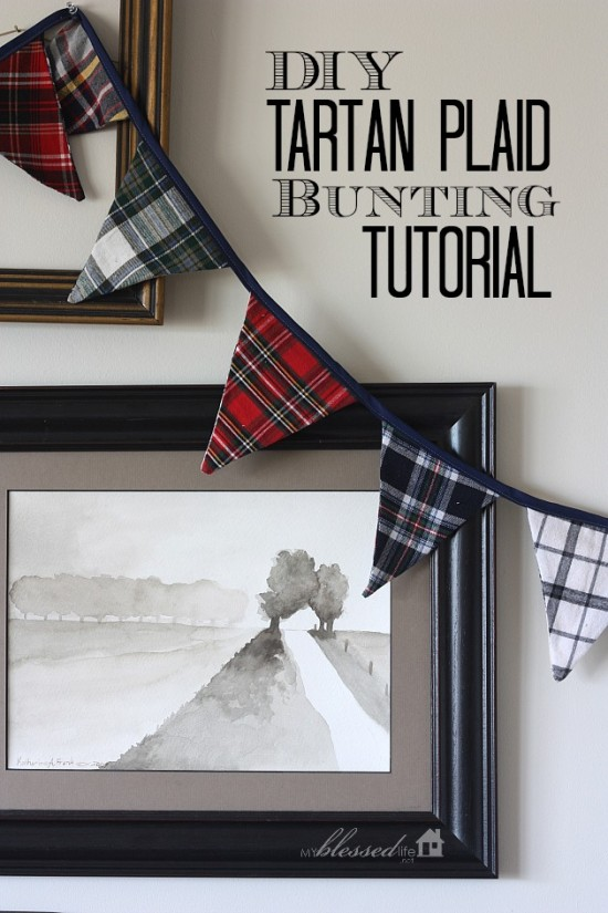 DIY tartan plaid bunting