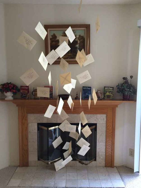 Write And Hang Some Letters Over The Fireplace For Creating A Magical Effect Cool Decor