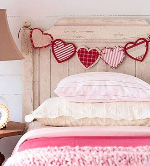 a paper heart garland is a super easy idea and can be made by anyone